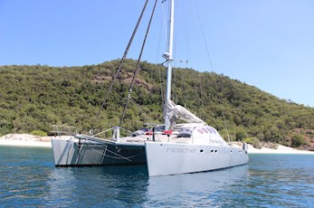 Luxury sailing around Hamilton Island on a catamaran