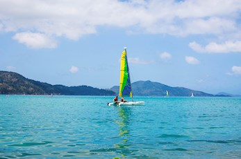 Hire a catamaran to explore the Great Barrier Reef - Hamilton Island holidays