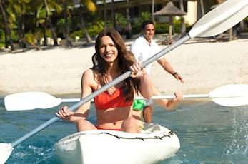 Enjoy a kayak to explore Hamilton Island - babymoon holiday