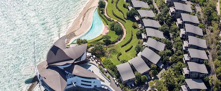 Hamilton Island yacht club aerial