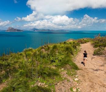 girl hiking new trails hamilton island Andrew caitens