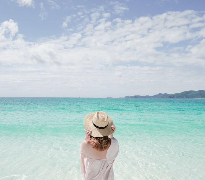 Babymoon at whitehaven beach while on holidays at Hamilton island and qualia