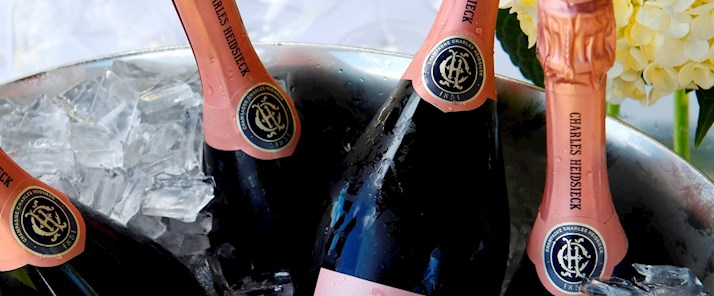 Enjoy a luxurious tropical summer holiday on the Whitsunday Islands with Charles Heidsieck Rose Champagne