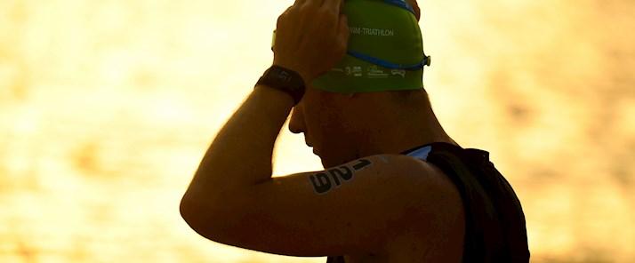 Delly Carr Triathlon and Ocean Swim catseye beach morning