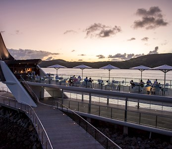 Bommie Deck at Hamilton Island at sunset TWS Visuals