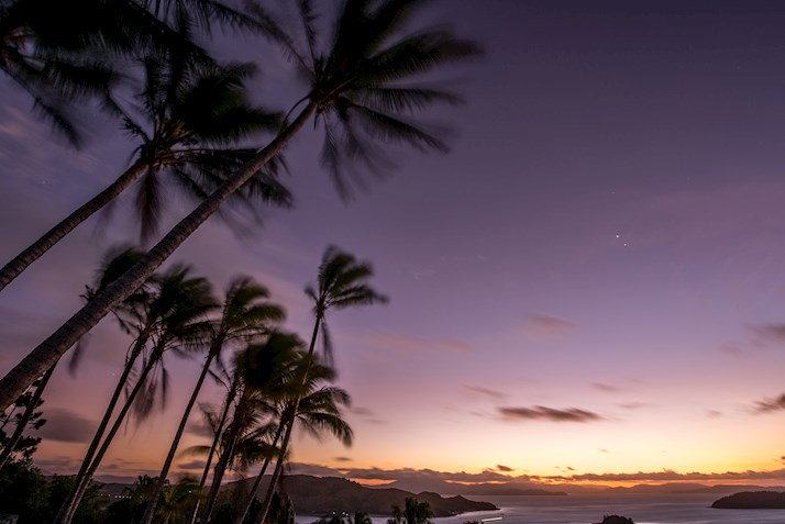 Sunset at one tree hill on Hamilton Island TWS Visuals