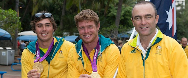 The Australian Olympic Sailing Team on Hamilton Island