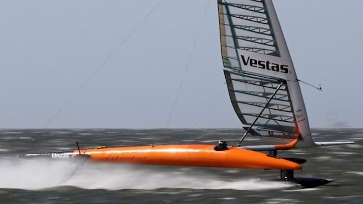 Paul Larsen at full speed on the Hamilton Island Race Week