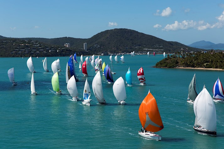 Audi Hamilton Island Race Week fleet sailing Whitsundays