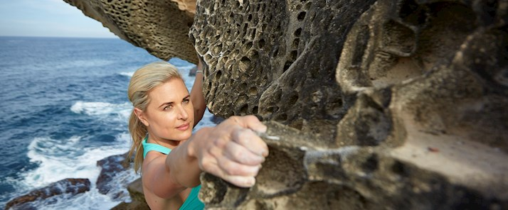 Rock climbing with Dr Kate Baecher - Hamilton Island
