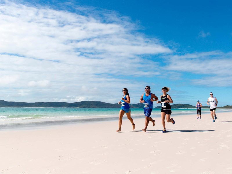 Hamilton Island Great Whitehaven Beach run
