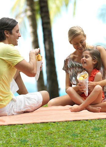 Enjoy some local fish and chips from Popeyes Restaurant - Hamilton Island family holiday