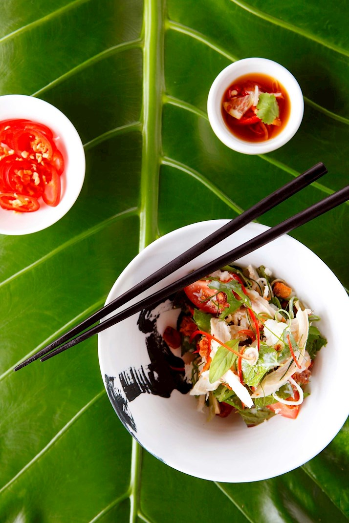 Chicken and Crab salad at Coca Chu restaurant - Hamilton Island holiday packages