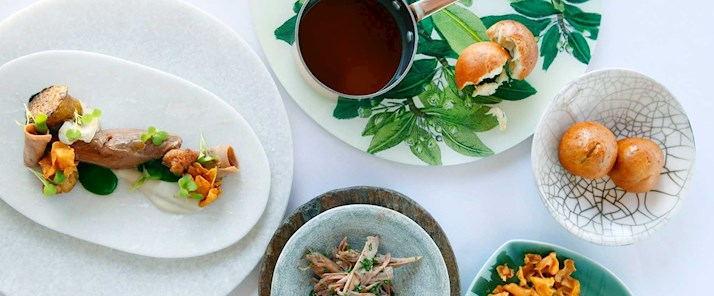 Veal and jerusalem artichokes at qualia - Hamilton Island holiday packages