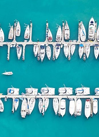 Aquabumps aerial image - Hamilton Island hotel