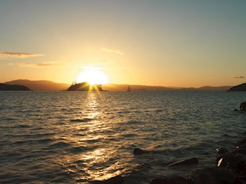 Sunset from Pebble Beach - Hamilton Island luxury accommodation