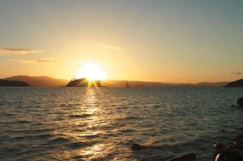 Sunset from Pebble Beach - Hamilton Island luxury accommodation