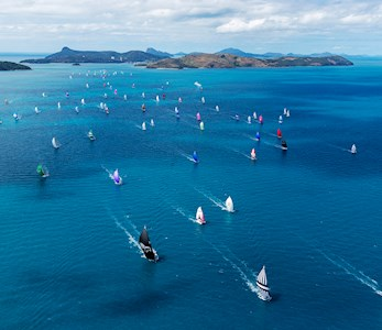 Audi Hamilton Island Race Week sailing fleet