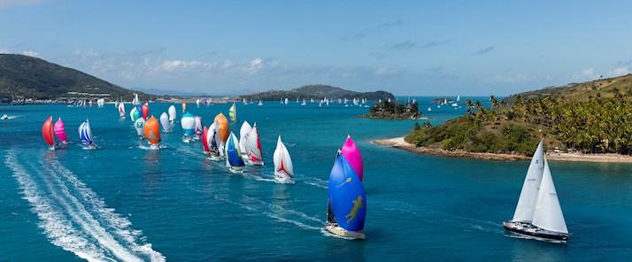 Fleet leaving the passage at Hamilton Island Race Week