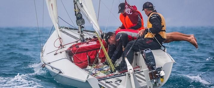 See the crews hard at work sailing the yachts - Hamilton Island luxury holiday