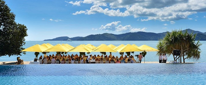 Paspaley Pebble Beach qualia lunch - Hamilton Island resort