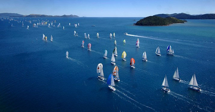 Yachts racing at Audi Hamilton Island Race Week