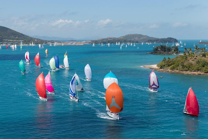 Audi Hamilton Island - fleets of yachts race through the Whitsundays - 2015