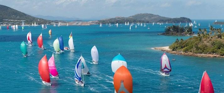 Audi Hamilton Island - fleets of yachts race through the Whitsundays - 2015