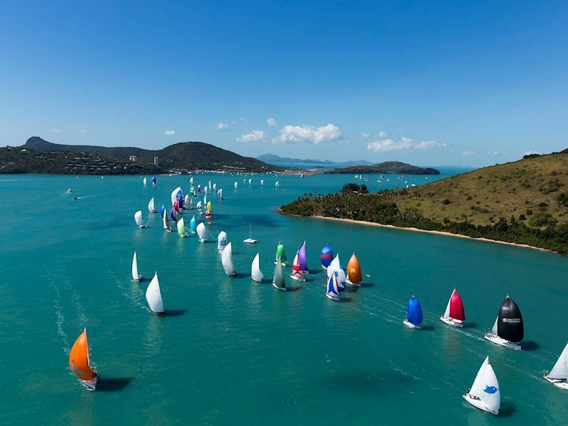 Fleet of yachts on the water - Audi Hamilton Island Race Week - Hamilton Island holidays