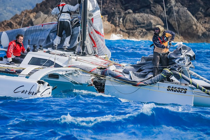 Yachts sailing at Audi Hamilton Island Race Week