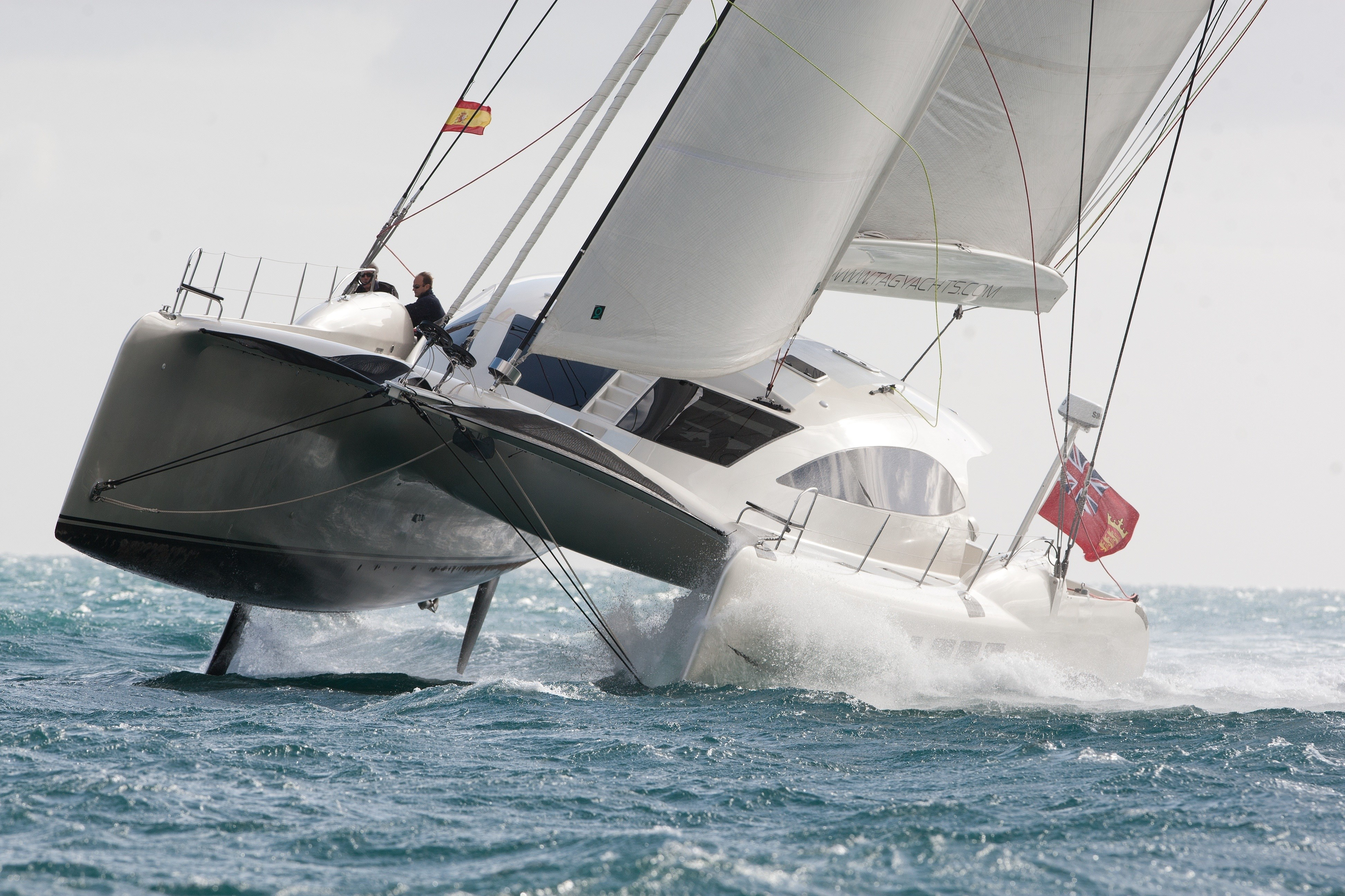 See the TAG 60 yacht hull flying at Audi Hamilton Island Race Week - Hamilton Island holiday packages