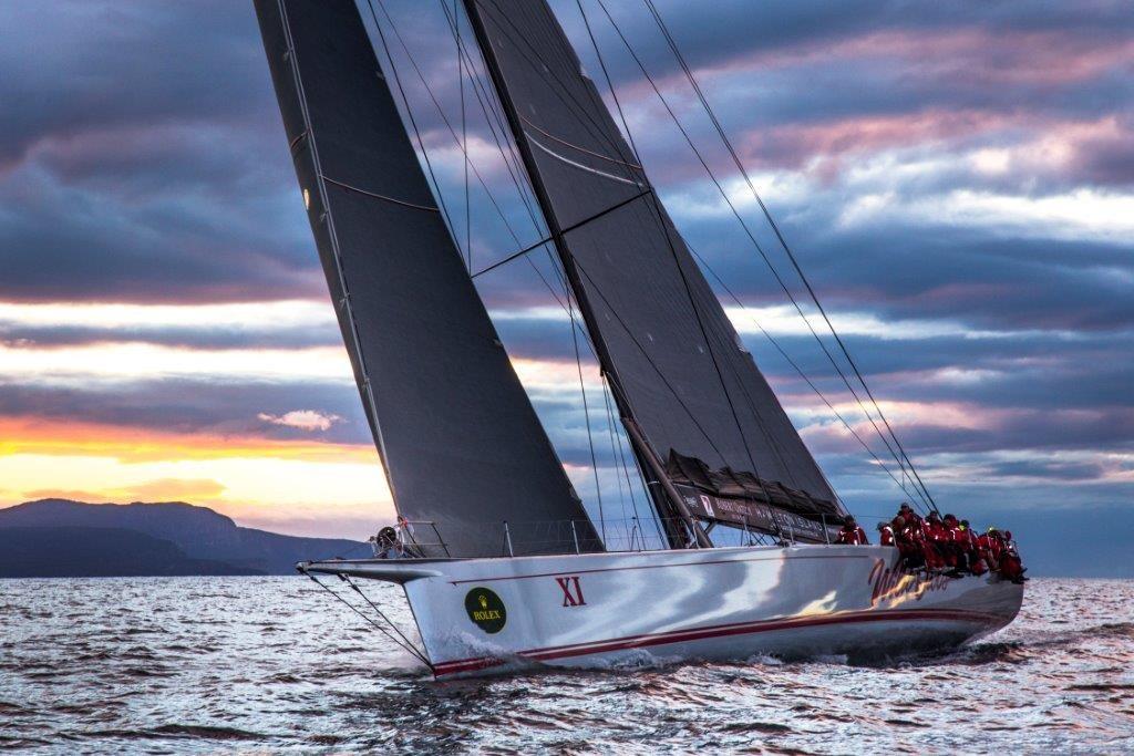 Wild Oats XI sailing at sunset - luxury holiday Hamilton Island