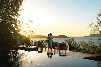 The Long Pavilion Restaurant offers a romantic sunset dinner location - honeymoon Hamilton Island