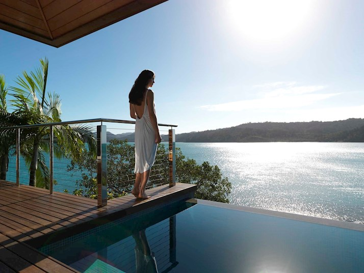 Enjoy the splendid view from Windward Pavilion, Hamilton Island. Top destination for your luxury summer holiday