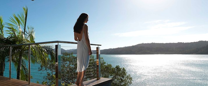Windward Pavilion plunge pool - views over the Whitsundays - Hamilton Island Australia