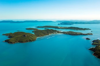 Get an amazing aerial view of Hamilton Island as you arrive - luxury holiday Hamilton Island