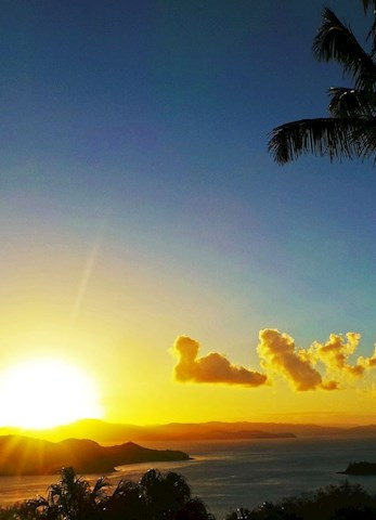Watch the spectacular sunset from One Tree Hill - Honeymoon Hamilton Island