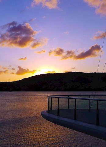 See the amazing sunset over Dent Passage from the Yacht Club - romantic packages Hamilton Island