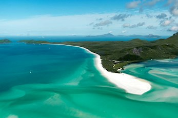 Explore Whitehaven Beach and Hill Inlet from the air - luxury holiday Hamilton Island